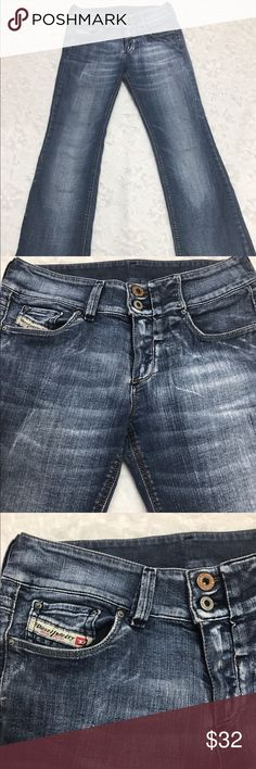 "Diesel Industry Denim Division Flare Jeans Sz 26 Diesel Industry Denim Division Boot Cut Jeans Size 26. This jeans is semi flare, boot cut with 3 front pockets and two back pockets. 34"" waist, 28 1/2"" inseam, 37"" length. Diesel Jeans Boot Cut"
