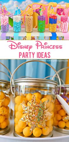 Are you looking for easy and creative Disney Princess party ideas? Are you looking for easy and creative Disney Princess party ideas? How about a princess candy buffet? These Disney Princess party ideas are just what you're looking for! Princess Birthday Party Decorations, Disney Princess Birthday Party, Princess Party Foods, Princess Themed Food, Disney Themed Party, Disney Party Games, Disney Parties, Disney Princess Decorations, Disney Princess Games