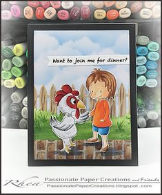 It's a Kinda Cute Week at Passionate Paper Creations and Friends Facebook Group........ | Passionate Paper Creations Whimsy Stamps, Animal Cards, Copic, Passion, Group, Facebook, Friends, Paper, Cute