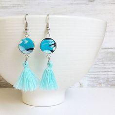 Tassel earrings turquoise tassel earrings tassel drop