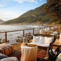 Dining at Hout Bay in Cape Town, South Africa. Photo courtesy of travelingwithjoanne on Instagram.