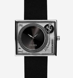 TableTurns (Silver Leather) / $70 / Flud Watches