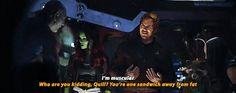 Ahahah the Guardians in #InfinityWar