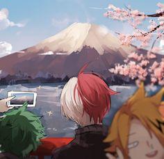 boku no hero academia, my hero academia, shouto todoroki, midoriya izuku, Denki Kaminari