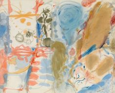 "Helen Frankenthaler, Western Dream, 1957  ""When she arrived back in her hometown of New York City after attending Bennington College, Helen Frankenthaler (1928–2011) was precociously talented, notoriously beautiful, and eager to take on the world. The year was 1950, and she spent the next decade pushing abstract painting into new territory, the beginning of a long career that was one of the twentieth century's most distinguished in art."""