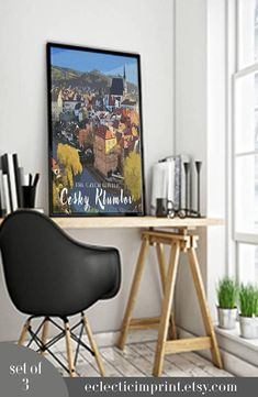 Czech Republic Travel Posters Set of 3 posters Instant