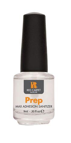 Το Prep Max Adhesion Sanitizer χρησιμοποιείται πριν την χρήση του Structure Base Coat και αφαιρεί κάθε ίχνος άλλων προϊόντων που υπάρχουν πάνω στα νύχια. Αφαιρώντας κάθε ίχνος υπολείμματων, βοηθάει στην καλύτερη δυνατή επικόλληση του Structure Base Coat πάνω στην επιφάνεια του νυχιού και συντελεί στην μέγιστη χρονική διάρκεια των Red Carpet Manicure ημιμόνιμων χρωμάτων.     Τιμή 4,50€