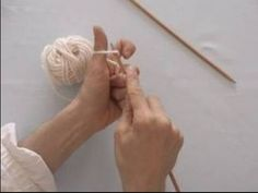 Basic Knitting Tips & Techniques : How to Cast On Knitting Stitches - YouTube