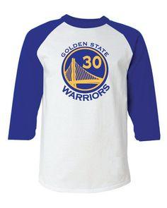 Golden State Warriors Style Raglan T-Shirt/Jersey Stephen Curry sz. Large Jordan LeBron