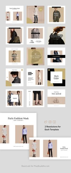 Sienna Fashion Social Media Kit - download freebie by PixelBuddha