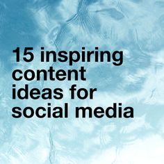 Are you feeling stuck as to what to post on social media?   Whether you're just getting started, or have been posting for a while, it's not unusual to second guess what you're doing.   Here are 15 easy yet inspiring ideas for content-rich and on-brand content.