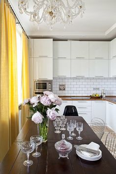 russian interior design #kitchen #diningroom