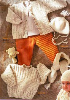 Album sous forme d'archive Knitting Patterns Boys, Knitting For Kids, Baby Patterns, Hand Knitting, Crochet Baby, Knit Crochet, Knitted Baby Clothes, Crochet Magazine, Album