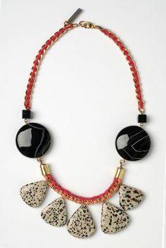'Gesprenkelte Eclipse' Halskette