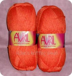 Orange Avril Double Knitting Yarn £1.70 per 100 gram Ball or £8 for 5 balls Plus P&P.