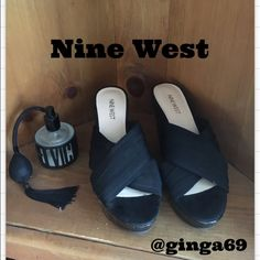 Nine West wedge sandals ✨ Nine West wedge sandals, worn a few times , kept in great shape🌺 Nine West Shoes Sandals