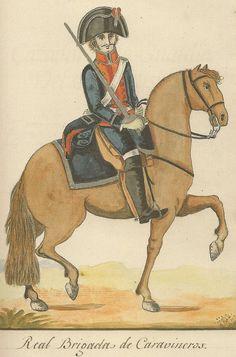 Carabineros Reales. Escuadrón de línea 1805