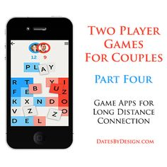 In a long-distance relationship? Does your spouse travel for business? Playing games can be a fun way to stay connected. Check out this list of game apps, great for two players! | DatesByDesign.com