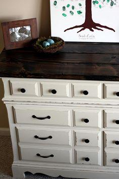 diy dresser with rustic wooden top