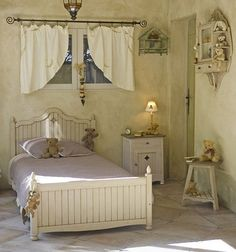 Beautiful olive colour  Translate this sweet bedroom to your budget. AFS