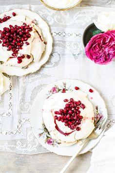 Pomegranate Rose Meringues Image Via: Rose & Ivy Journal