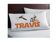 Personalized inspired Star Wars pillowcase - standard- design your own - name - birthday boys girls star wars bedroom