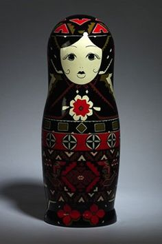 Top designers dress Russian dolls for Russian Vogue's 10th Anniversary. Designed by Gucci.