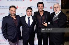 Musician Gabriel Vicentico, Chairman and CEO, Sony Music Entertainment Latin Iberia Afo Verde, singer Chayanne, and T.J. Martell Foundation founder and chairman Tony Martell attend the T.J. Martell Foundation's 39th Annual New York Honors Gala at Cipriani 42nd Street on October 21, 2014 in New York City.
