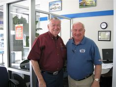Bobby Allison with Lennie Pond, at Heritage Chevrolet, in 2009