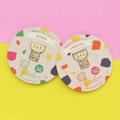 """Meet Bobo & Chacha from our """"Singapore Dessert Collection"""" – A Polkaros x the little dröm store collaboration. http://shop.thelittledromstore.com/category/brooches"""