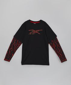 This Black Tech Tee - Boys by Reebok is perfect! #zulilyfinds