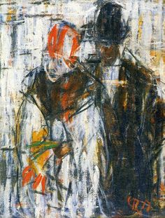 german-expressionists:  Christian Rohlfs, Man and Girl, 1917