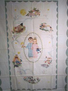 """Vintage Hiawatha """"Sleepy Head Quilt Panel"""