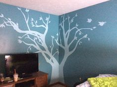 A tree I stenciled freehand :)