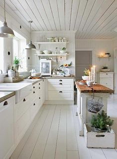 Blessed automated country style home decor kitchen straight from the source Farmhouse Style Kitchen, Modern Farmhouse Kitchens, Kitchen Redo, Home Decor Kitchen, Country Kitchen, New Kitchen, Kitchen Remodel, Contemporary Kitchens, Kitchen White