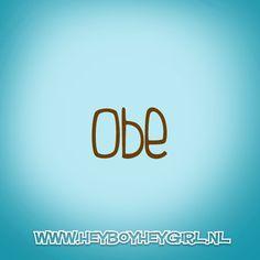 Obe (Voor meer inspiratie, en unieke geboortekaartjes kijk op www.heyboyheygirl.nl)