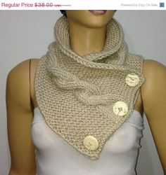 SALE 25 HAND KNIT Scarf  Hand Knitted Scarf  Unisex by istanbuloya, $28.50