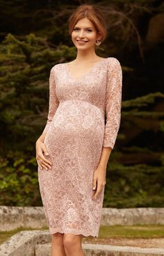 So expensive...$240 Chloe Lace Maternity Dress Orchid Blush by Tiffany Rose