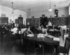 Historic Photos From Howard University School Of Medicine- Medical school library Medical school library in the year of 1920.
