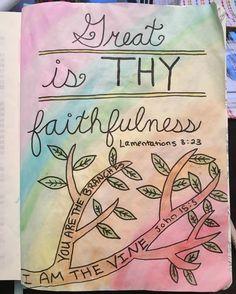 My first attempt at Bible journaling! Not perfect-- but nobody is! #biblejournaling #bible #biblejournalingcommunity #greatisthyfaithfulness #illustratedfaith http://ift.tt/1KAavV3
