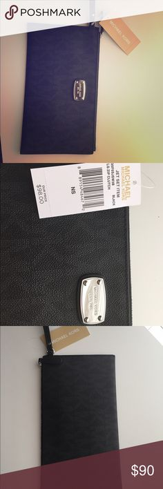 Michael Kors clutch Beautiful and practical in size. Brand new never used with tags. Black leather Michael Kors clutch. Michael Kors Bags Clutches & Wristlets
