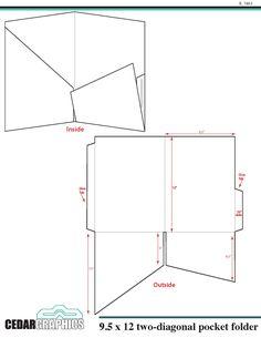 Folder Diy, File Folder, Custom Presentation Folders, Box Packaging Templates, Scrapbooking, Folder Design, Dashboard Design, Bookbinding, Mini Books
