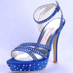 """Dyeable Fancy 5"""" Rhinestones Open Toe Sandals - Ivory Satin Wedding Shoes (11 colors),US$76.98   Read More:     http://www.weddingscasual.com/index.php?r=fancy-5-rhinestones-open-toe-wedding-sandals.html"""