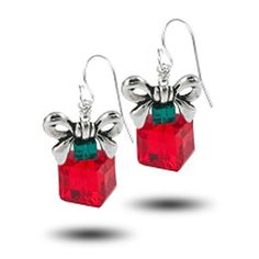 Holiday Present Earrings - $8 photo only