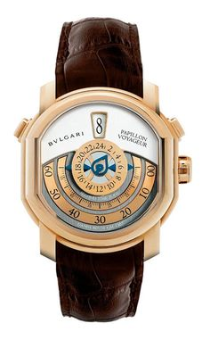 0fedf3effca3 Bulgari Papillon Voyageur - 99 piece limited edition Rose gold Bvlgari  Watches, Rose Gold,