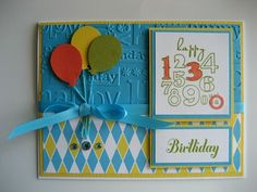 SU! Bring on the Cake stamp set; Bigtop Birthday DSP(retired); Tempting Turquoise and Daffodil delight card stock - Linda Fisher