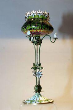 Gustav Gaudernack Plique-a-Jour Enamel Vase.jpg 512×768 пикс