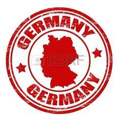 Grunge Stempel mit Deutschland-Karte und der Name Deutschland innerhalb der Stempel geschrieben photo