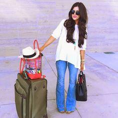 White oversized shirt from chicwish, stylish comfortable travel