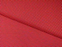 Jersey rot weiß gepunktet 3mm